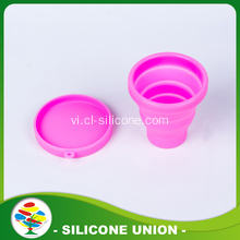 Du lịch thể thao Camping Silicone đóng mở Cup