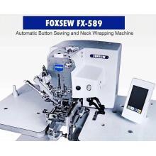 Máquina de costura automática de botões e pescoço