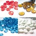 Glass Gems Flat Glass Beads Multicolor Vase Filler