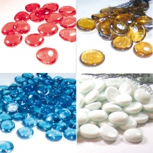 Glass Gems Flat Glass Beads Multicolor Vase Filler