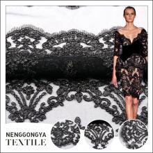 Fourniture chinoise personnalisée 100% polyester tissu de dentelle à vendre