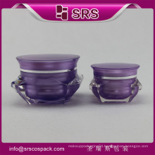SRS free sample empty 1oz diamond shape purple plastic loose eyeshadow container