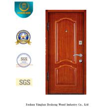 Puerta de acero de seguridad estilo europeo simplificada (E-1002)