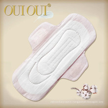 Own brand name OUIOUI disposable style lady soft sanitary napkin