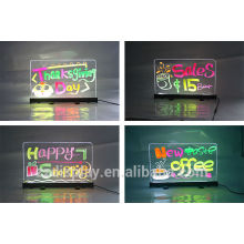 Popular sale double sided table top led writing board factory