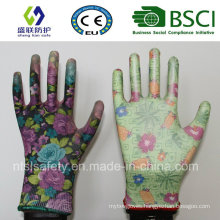 13G PU Coated Garden Work Glove (SL-G-PU201)