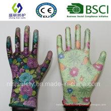 13Г полиуретановым покрытием сад перчатки работы (сл-г-PU201)