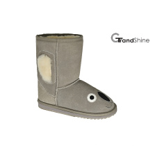 Kid's Cow Suede Low Boot Koala