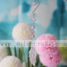 Clear Chandelier Glass Crystals Lamp Prisms Parts Hanging Pendants With 14MM Octagonal Beads