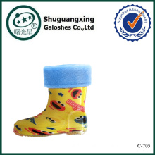 smile sexy girl waterproof kids rain boots