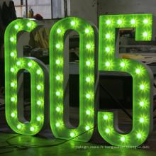 Lettres et chiffres d'ampoule de décoration pour la publicité