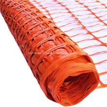 оранжевая пластиковая защитная барьерная сетка безопасности