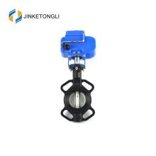 2017 venta caliente JKTL válvula de mariposa de alta temperatura asiento de metal dn250 para aire caliente