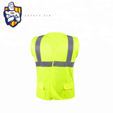 china suppliers wholesale safety reflective EN ISO 20471 safety road workplace traffic man's reflective vest with pockets