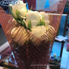 fornecedores de papel de embrulho de flor não tecida flor que envolve rolos de malha