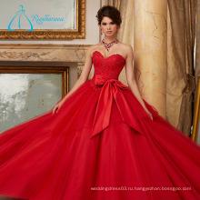 Обслуживание OEM Кристалл пояса лук оптом пышное платье