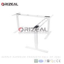 China manufacturer height adjustable 3 legs desk frame