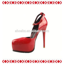 Новый дизайн весна большие Размер широкий ноги высокой пятки женская обувь
