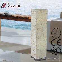Lampe de plancher debout carrée décorative de Shell de Natual Shell d'hôtel européen