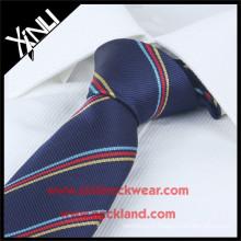 Nettoyage à sec uniquement Label privé haute qualité à bas prix rayé Cravates Uniform School Design