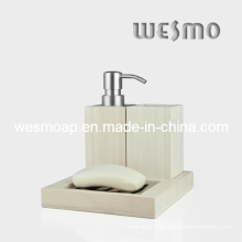 White Washed Finish Bamboo Bathroom Set (WBB0301B)