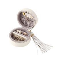 Cajas de regalo de empaquetado de joyería portátil de cuero de PU