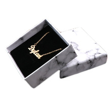 Wholesale Paper Box Marble Style Necklace Gift Box