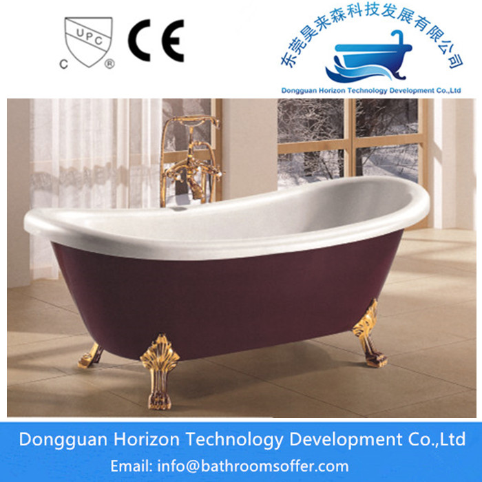 Deepred Claw Foot Bathtub