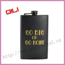Painting stainless steel hip flask with screen silk