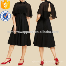 Crop Solid Top With Dress Set Manufacture Wholesale Fashion Women Apparel (TA4026SS)