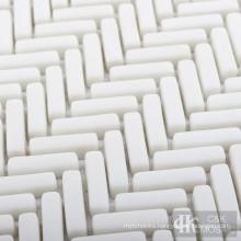 Herringbone Glass Mosaic Tile for Bathroom
