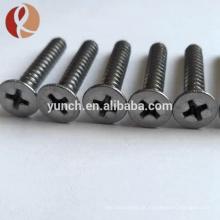 M2 x 5mm gr5 Parafusos de titânio em estoque