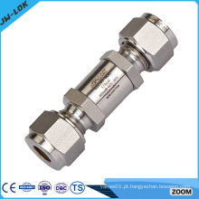 Válvula de retenção de aço inoxidável 316 de sentido único