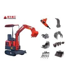 Chinese small digger crawler excavator Hydraulic mini Household Track Mini Excavator