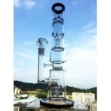 Cabeza de ducha y Birdcage perca de vidrio de tubería de agua Hbking de agua de vidrio de tubería Hb-K18 pipa de fumar al por mayor
