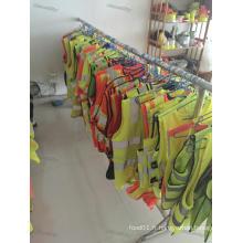 Gilets réfléchissants haute visibilité vert jaune orange