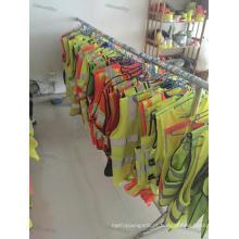 Coletes refletivos de alta visibilidade verde amarelo laranja