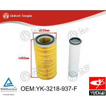 YK-3218-937-F Original Yuchai engine air filter for Chinese truck