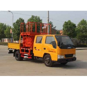 mini diesel platform scissor lift truck for sale