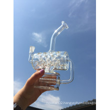2016 New Arrival Mini Portable Inline Recycler Glass Smoking Pipe