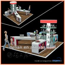 soporte de exhibición luminoso pintado madera de la tecnología de la promoción para el estante de exhibición