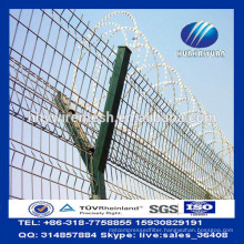 Y Post Airport Security Fence Military Concertina Razor Barbed Wire Welded Mesh Fencing