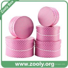 Conjunto de caja de almacenamiento redonda / Papel impreso cajas de sombrero redondo