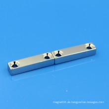 NdFeB Neodym-Block-Magnet Doppelschraube Loch
