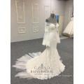 China Custom Made Alibaba Wedding Dress Mermaid Applique Long Sleeve Wedding Dresses 2018
