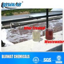 Agent de décoloration de l'eau pour le traitement des eaux usées domestiques / sanitaires