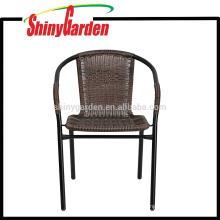 Rattan-Restaurant-Garten-Stapel-Stuhl im Freien