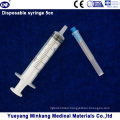 3 Parts Medical Disposable Plastic Syringe with Needle (5ml)