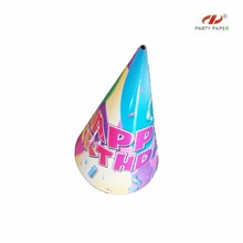 Logo Printed Cone Shaped Fringe Party Hat