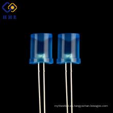 8mm3.4v Diodo LED DC difuso azul Precableado Bombillas Lámparas Lámpara Diodos Emisores de Luz redondos precableados